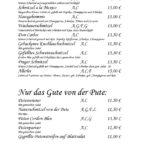 Меню ресторанаSchnitzelwirt