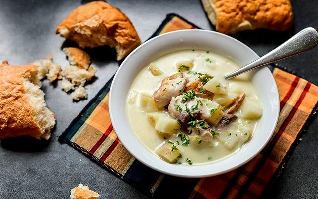 Суп из копченой пикши