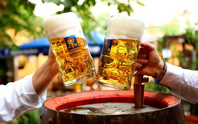 Бокал пива Augustiner
