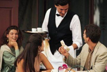 Чаевые официанту в болгарском ресторане