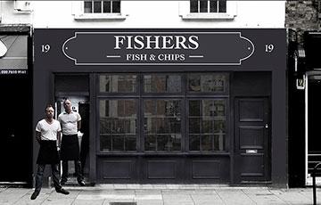Недорогой ресторан Fishers Fish and Chips