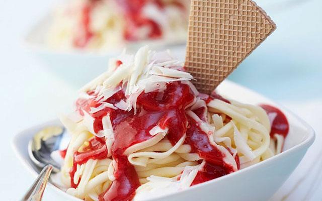 Мороженое-спагетти