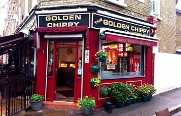 Недорогое кафе The Golden Chippy