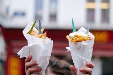 Уличная еда в бельгии