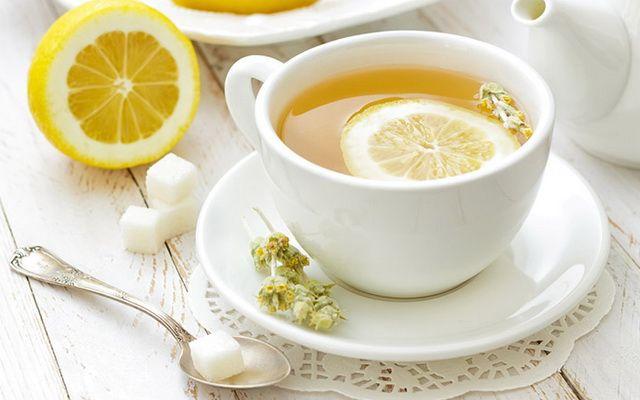 Английский зеленый чай с лимоном