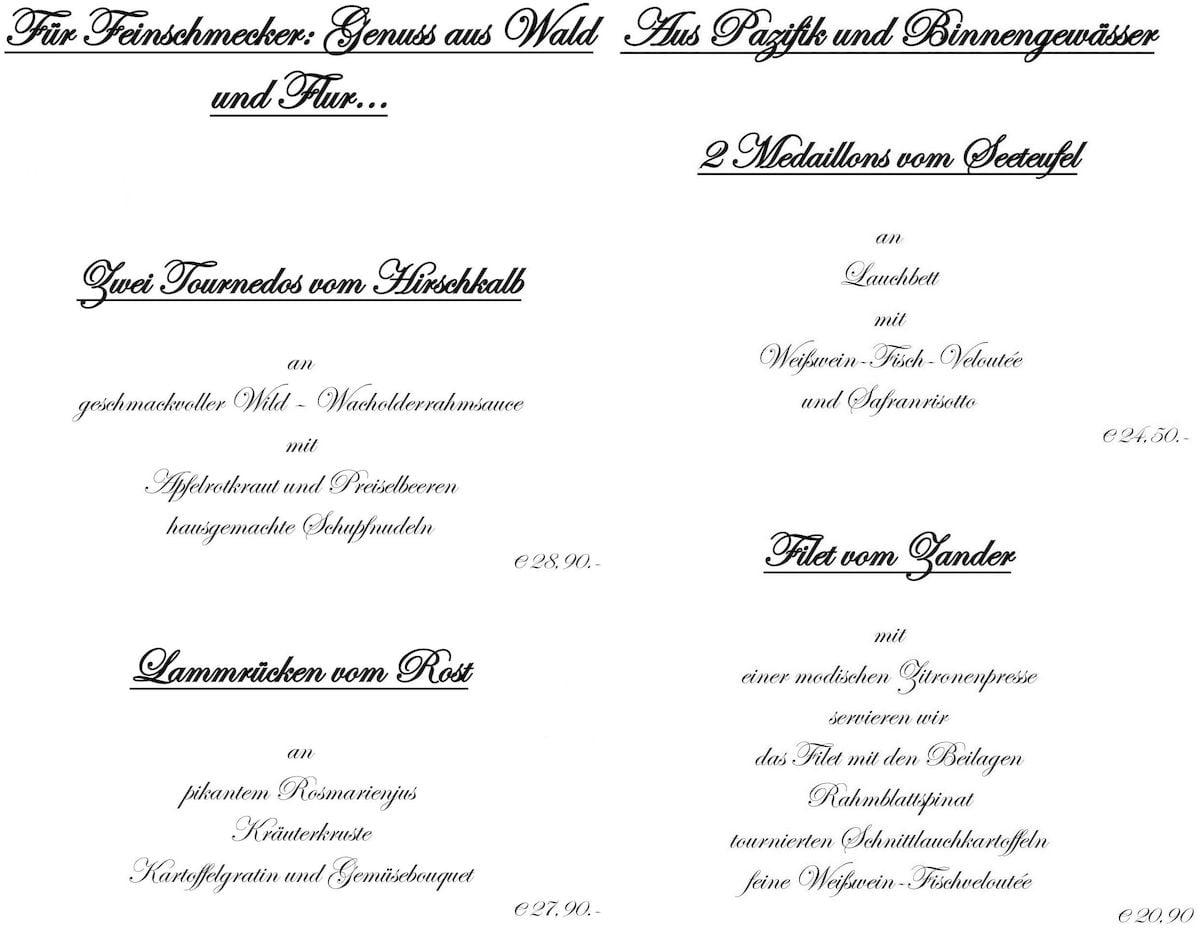Меню ресторана Ottoburg