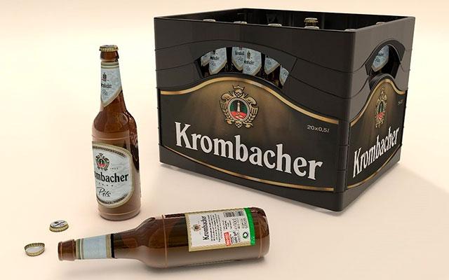 Упаковка пива Krombacher