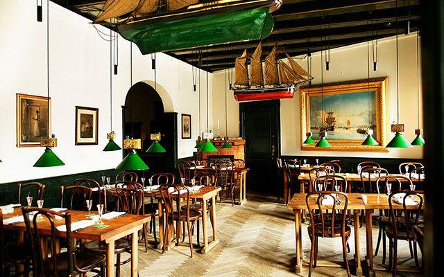 Двухэтажный ресторан Nyhavns Faergekro