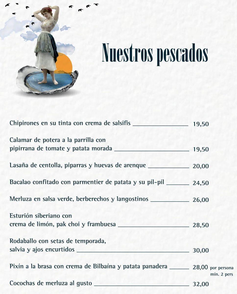 Меню ресторана La Lonja