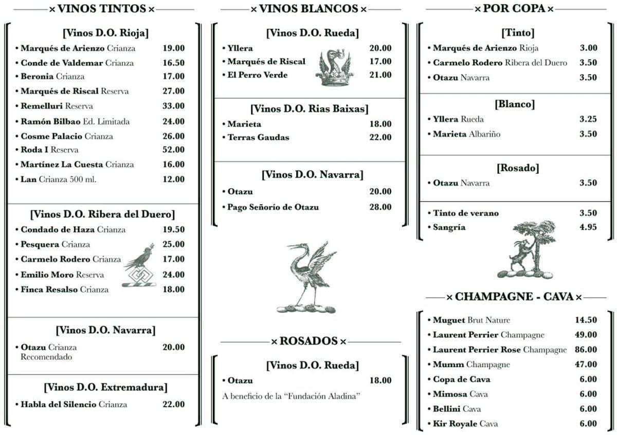 Меню ресторана Murillo Cafe