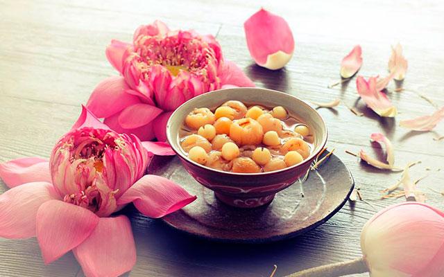 Блюдо из семян лотоса