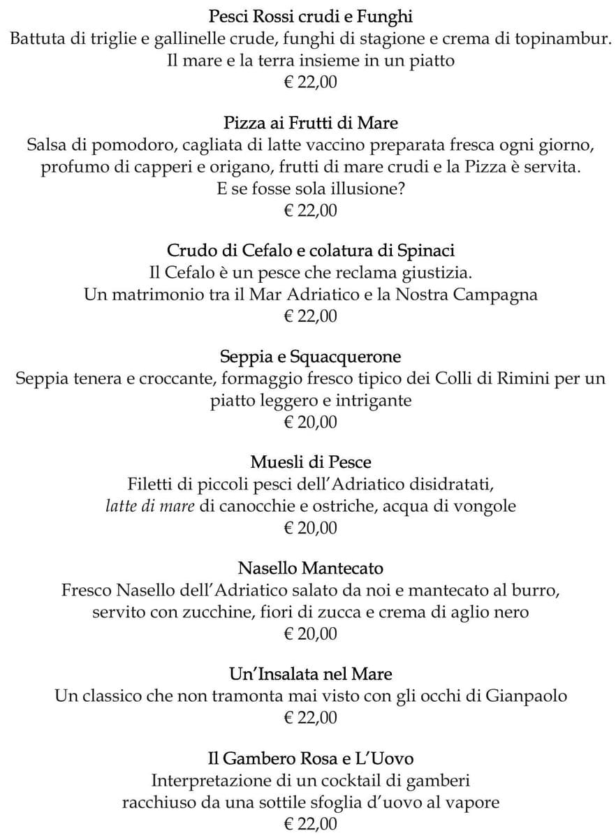 Меню ресторана Guido Restaurant