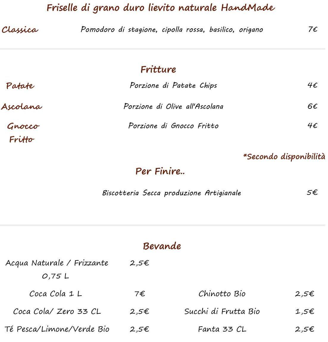 Меню ресторана Vinó Enoteca Elmo