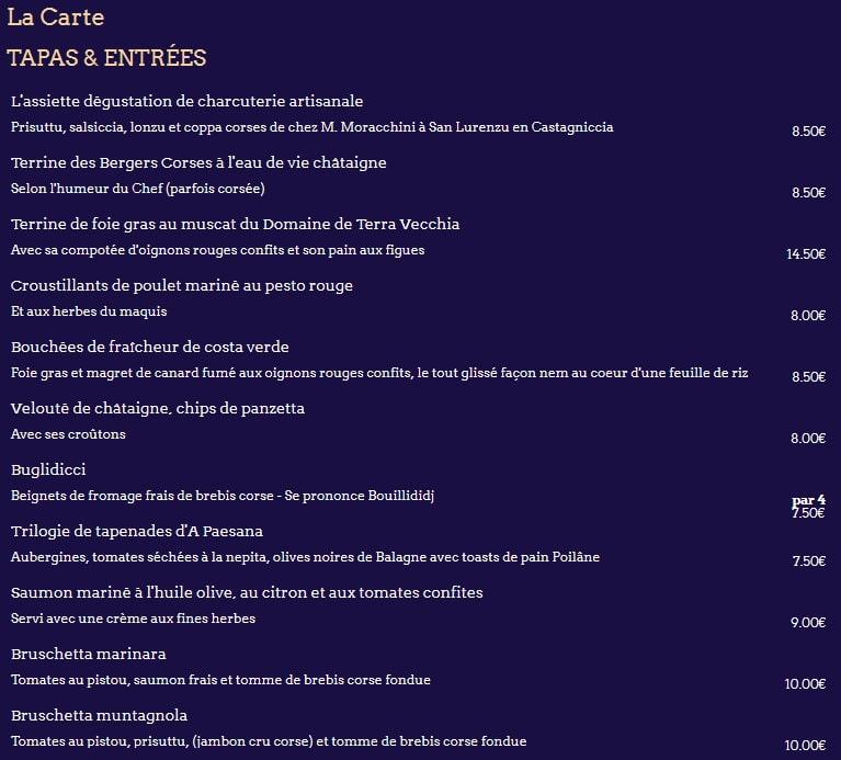 МеМеню ресторана Le Wagon Bleuню ресторана Le Wagon Bleu