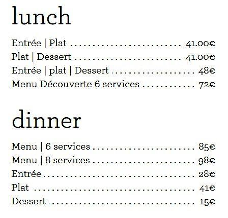 Меню ресторана Ze Kitchen Galerie