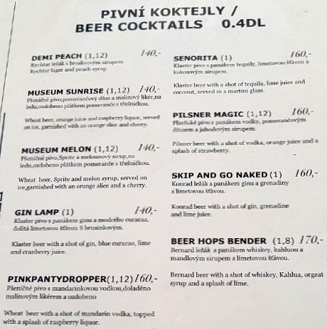 Цены Prague Beer Museum