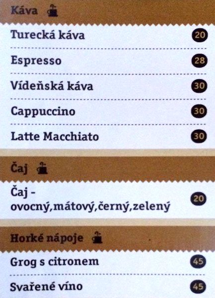 Меню RestauraceSklípek
