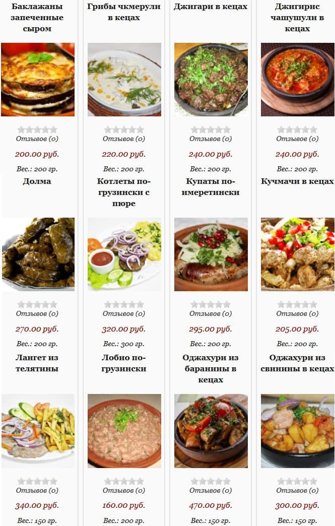 Цены ресторана Чито Гврито